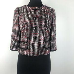 Ann Taylor Loft Tweed Cropped Blazer